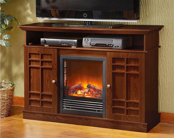 CastleCreek Media Stand Fireplace