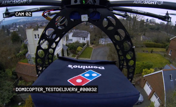Domino's Helicopter Pizza Delivery