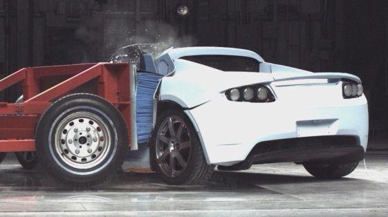Tesla Roadster Fed Crash