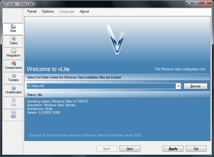 vLite Screenshot