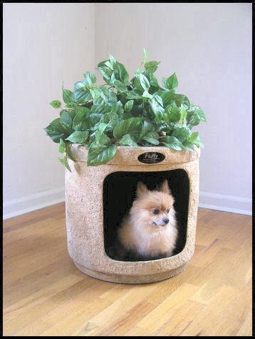 Hidden litter box planter