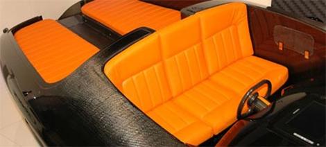 Solar Boat Orange Interior