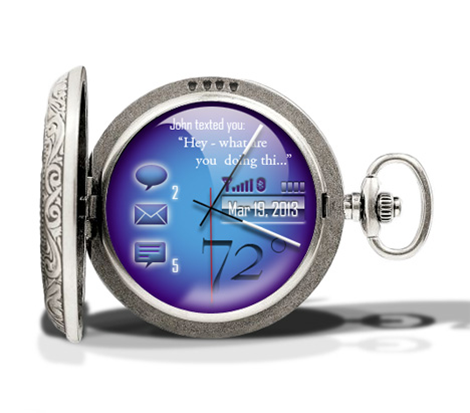 Cobalt Pocket Watch