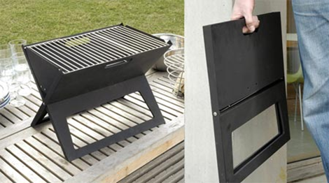 Notebook Portable Folding BBQ Grill