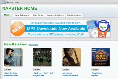 Naptster Home Page