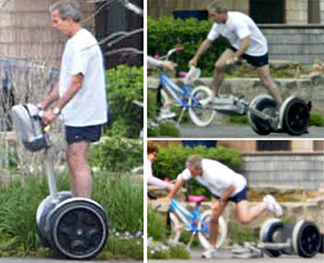George Bush Segway Crash