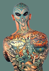 freaky tattoo alien