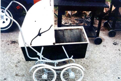 Stroller Baby Carriage BBQ