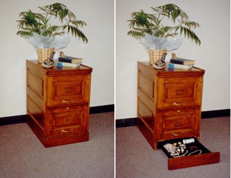 Hidden Safe Filing Cabinet