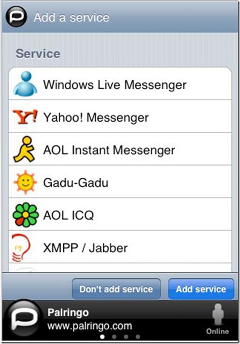 iPhone IM App Palringo