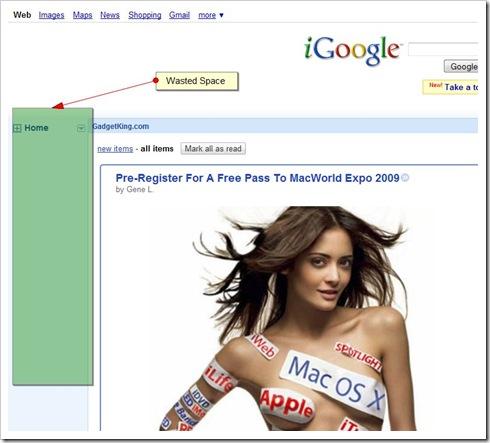 iGoogle space waster