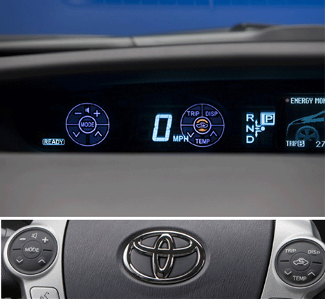 Prius Touch Tracer Display