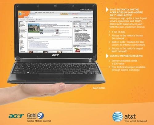 3G Acer Aspire Netbook 531