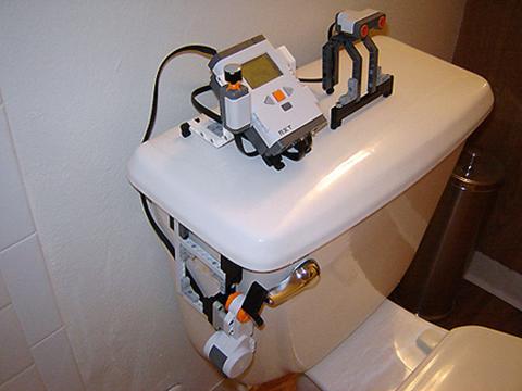 LEGO NXT Toilet Flushing Robot