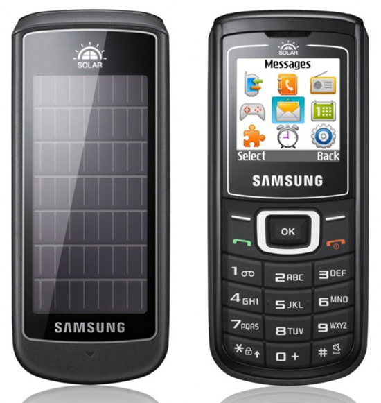 Samsung E1107 Solar Cell Phone
