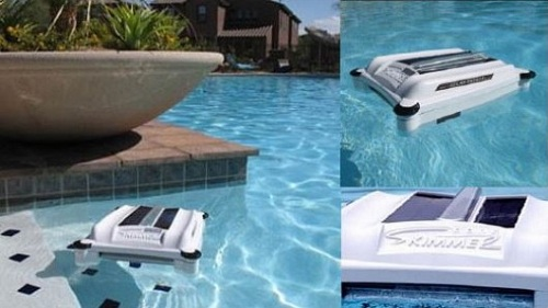 Solar Breeze Solar Powered Pool Skimmer Gadgetking Com