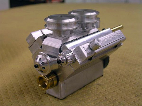 World's Smallest V8 Engine Compressed Air