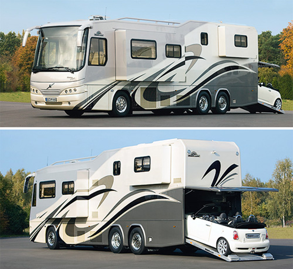 Variomobil perfect 1200 platinum motorhome for Rv trailer with garage