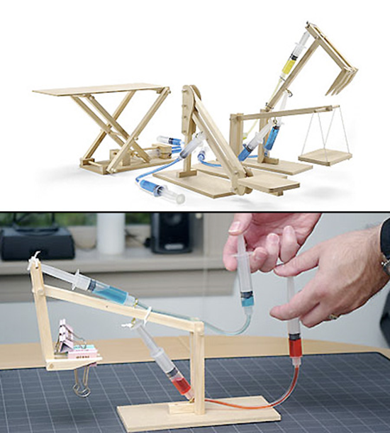 wooden hydraulics kit
