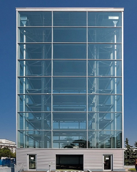 Glass Parking Structure