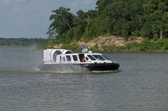 Canair hovercraft on water