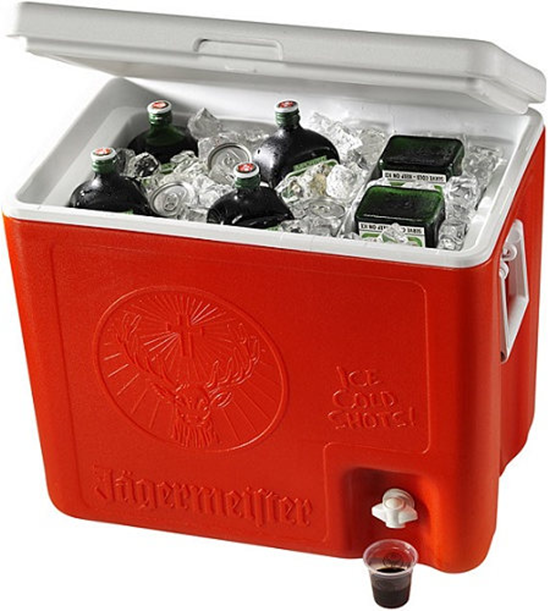 Jagermeister cooler with tap