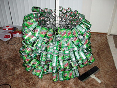 Mountain Dew Can Christmas Tree