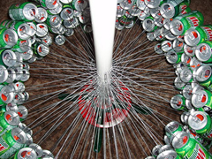 Build a Christmas Tree From Cans