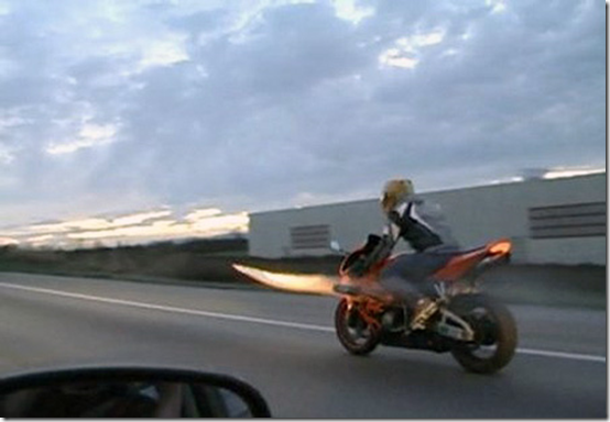 Rocket Launching Motorcycle