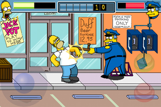 iPhone Simpsons Game