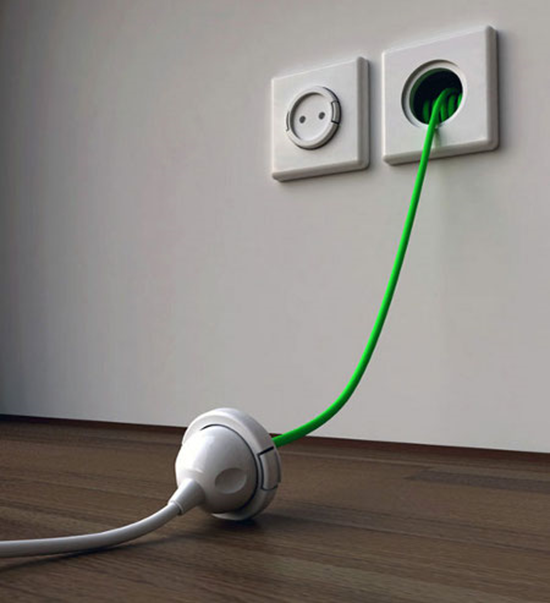 Socket With Built In Extension Cord