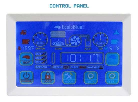 ecoloblue 30 control panel