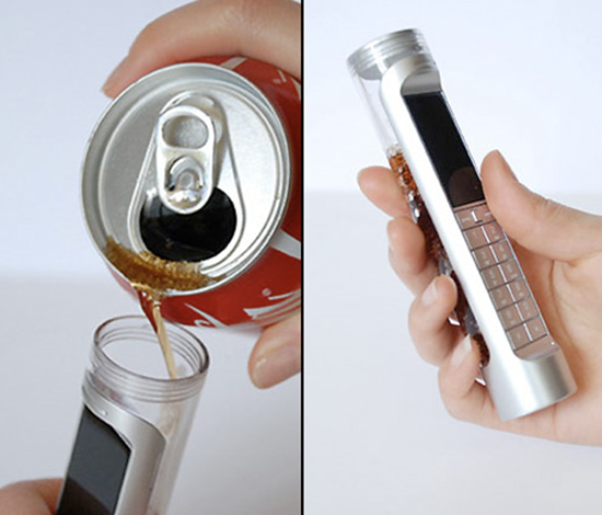 Soda Powered Cell Phone