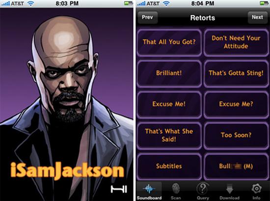 iSamJackson Samuel Jackson iPhone App