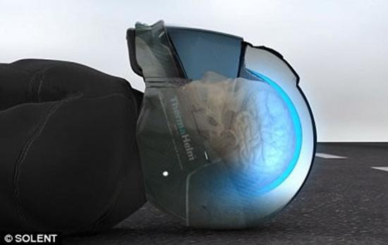 ThermaHelm cooling motorcycle helmet