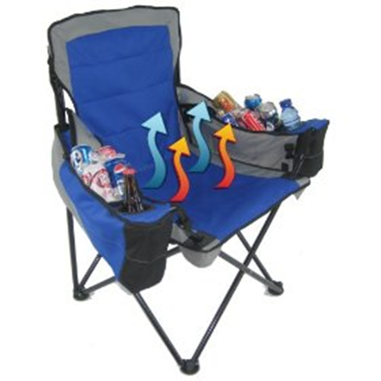 Folding Chair With Built In Coolers Gadgetking Com
