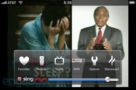 3G iPhone SlingPlayer