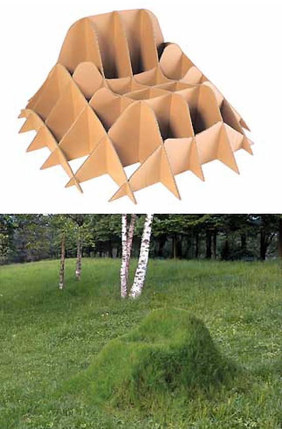 Cardboard Real Lawn Chair
