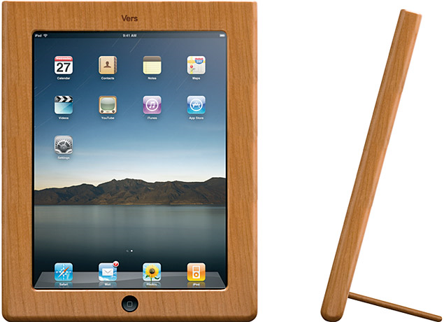 ipad case stand. The Vers Wood iPad Case Stand