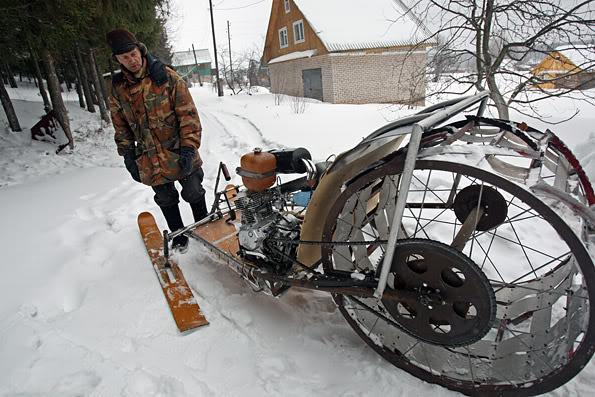 Дешевый снегоход своими руками