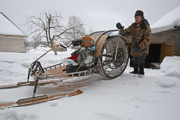 Crazy Looking Homemade Russian Snowmobile Gadgetking Com