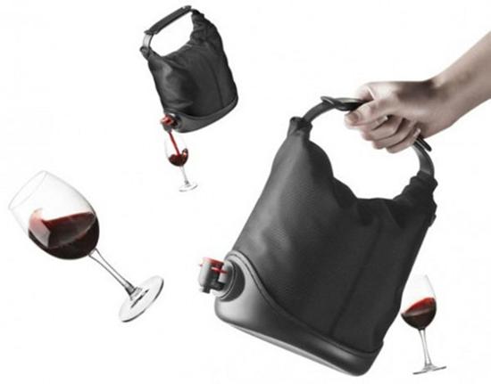 Baggy Winecoat Wine Purse