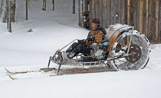 Homemade Russian Snowmobile