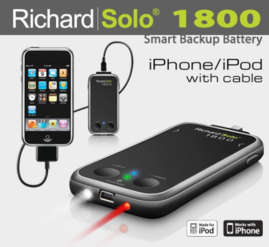 Richard Solo 1800 iPhone battery