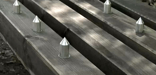 Spiked Park Bench