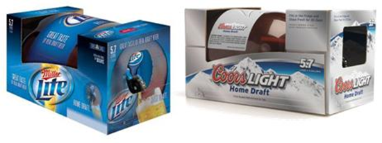 Coors Light Miller Light Home Draft