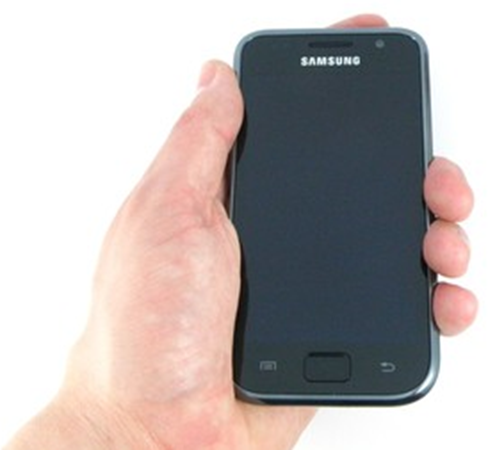 Samsung Galaxy S in Hand