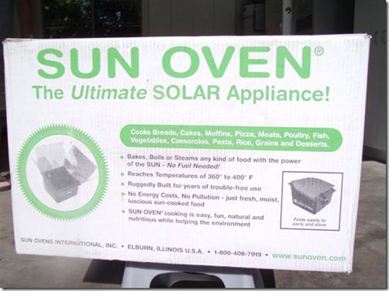 Sun Oven Box