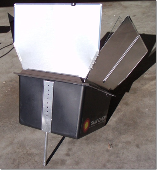 Back of Sun Oven