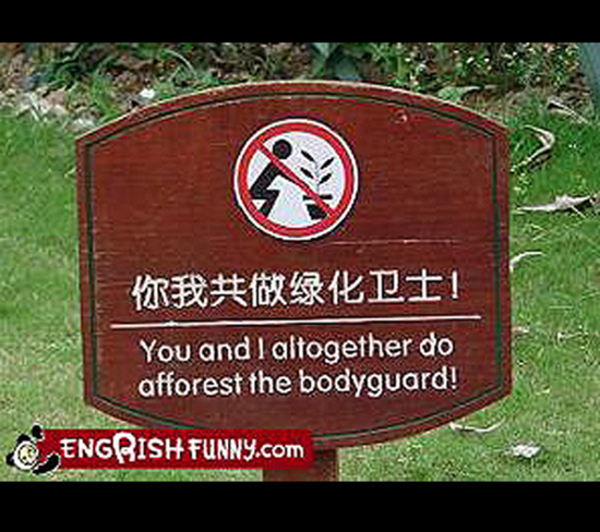 Afforest the bodyguard
